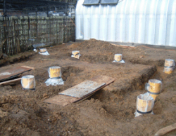 Footings are in place
