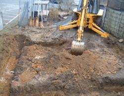 Digging footings